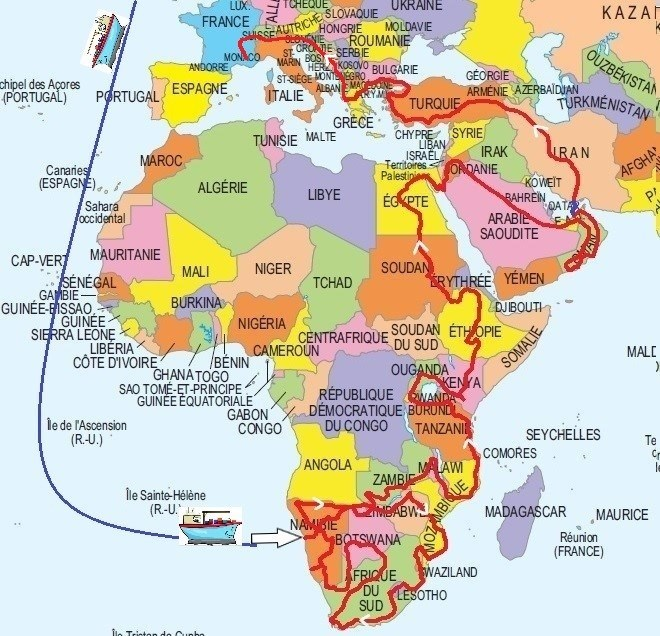Carte De Lafrique Et Moyen Orient.Natetjean En Afrique Et Autour Du Monde En Camping Car